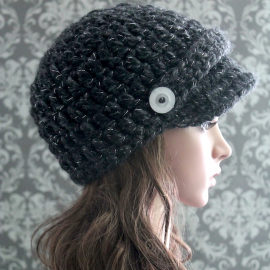 easy newsboy hat crochet pattern