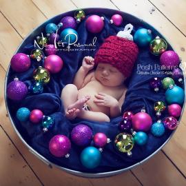 crochet hat pattern christmas ornament beanie