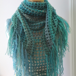 beginner shawl crochet pattern