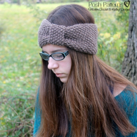 seed stitch headband pattern
