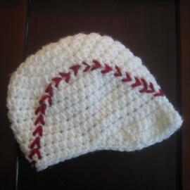 baseball newsboy visor hat crochet pattern