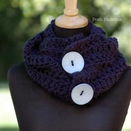easy crochet pattern cowl scarf ladies fashion