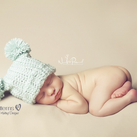 crochet pom pom hat pattern