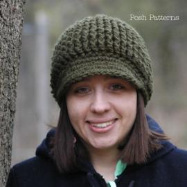 crochet pattern newsboy newsgirl visor hat pattern