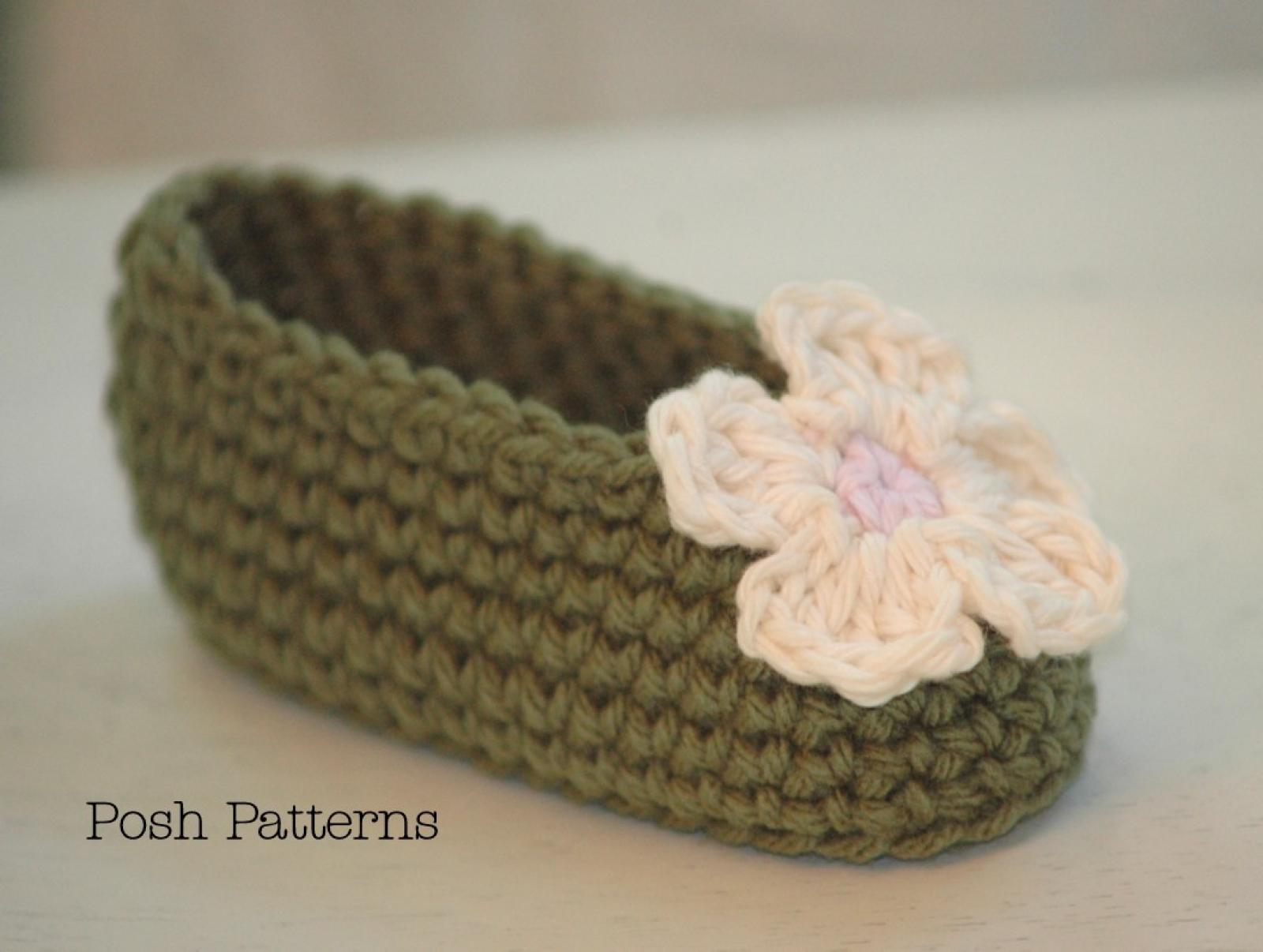 Shoes booties slipper mitten patterns posh patterns easy crochet pattern baby booties slippers and flower bankloansurffo Images