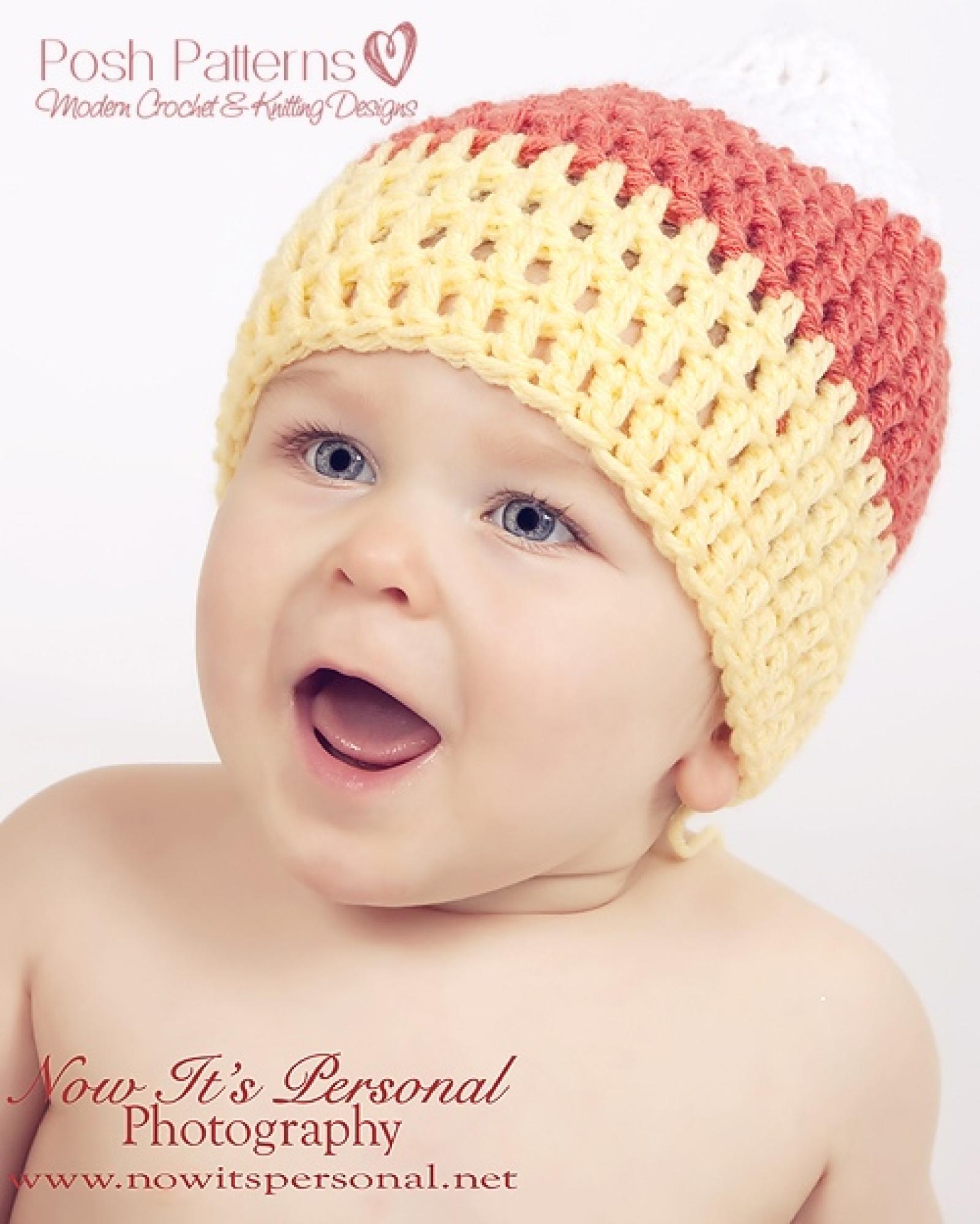 Candy corn baby hat crochet pattern 3 sizes bankloansurffo Gallery