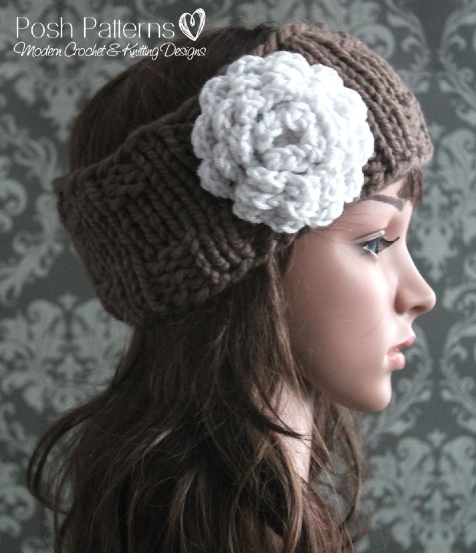 Knit Headband Pattern With Crochet Flower : Headband Knitting Pattern - Knit Ear Warmer Pattern