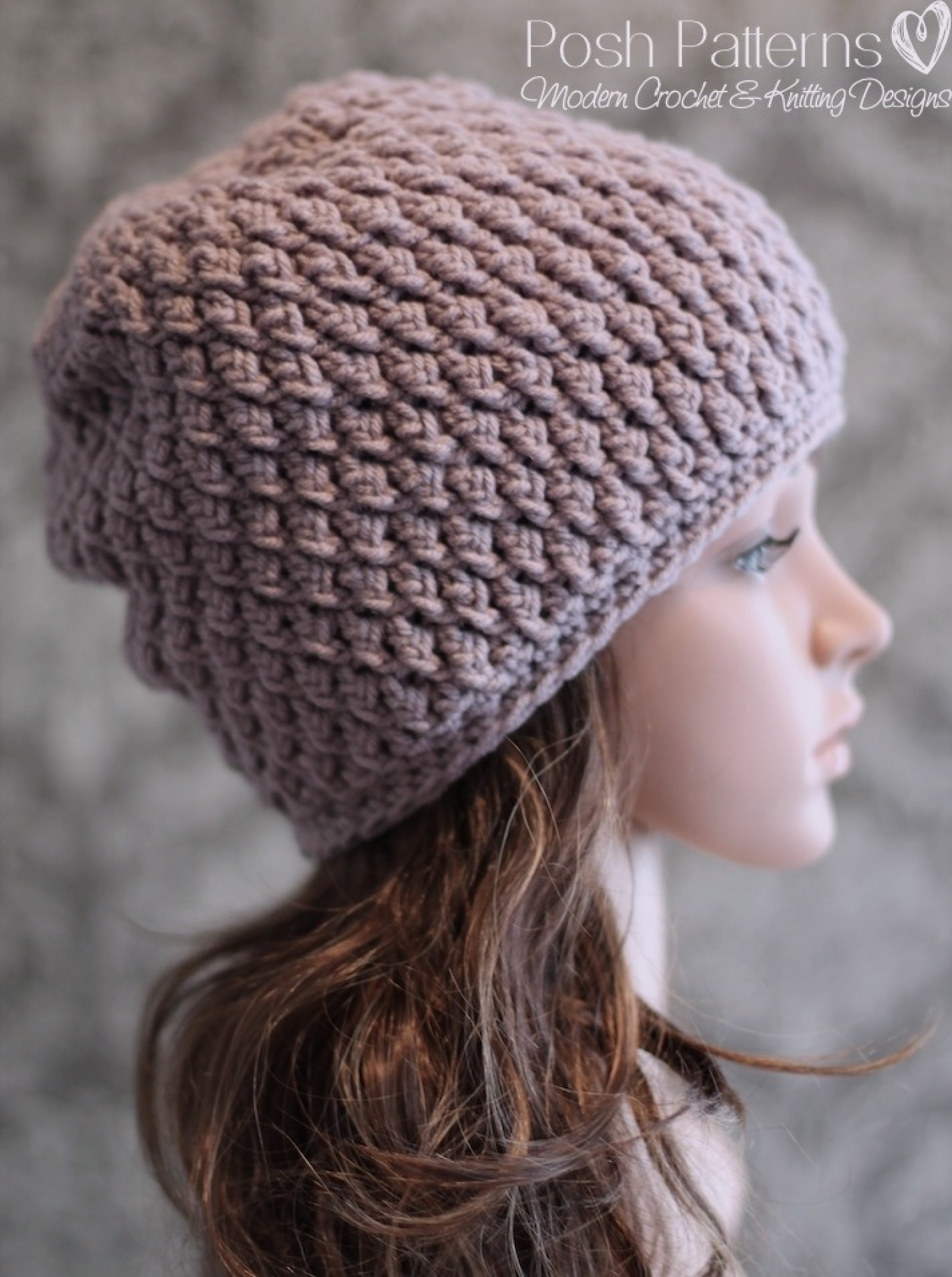 Slouchy hat crochet pattern faux cable beanie bankloansurffo Choice Image