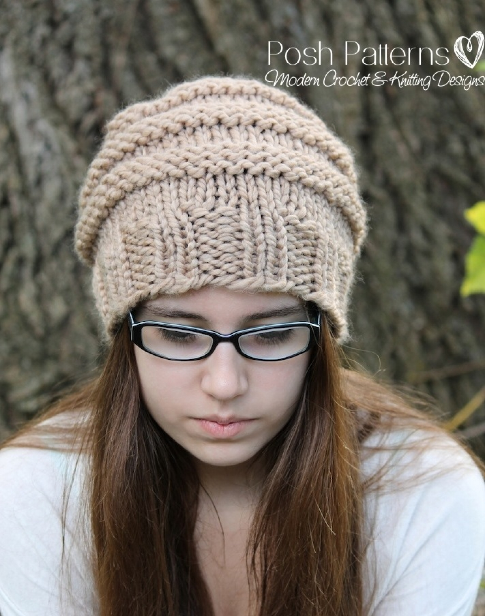 Knitting pattern knit slouchy hat pattern beehive hat bankloansurffo Image collections