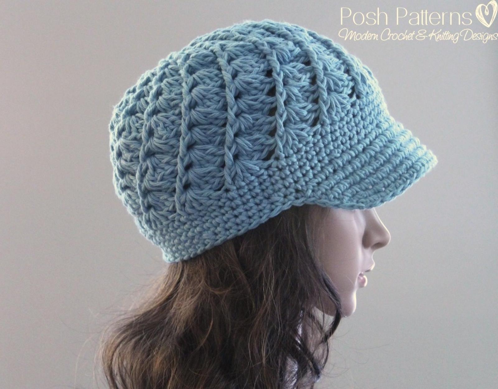 Crochet newsboy hat pattern spiral shell visor hat bankloansurffo Images