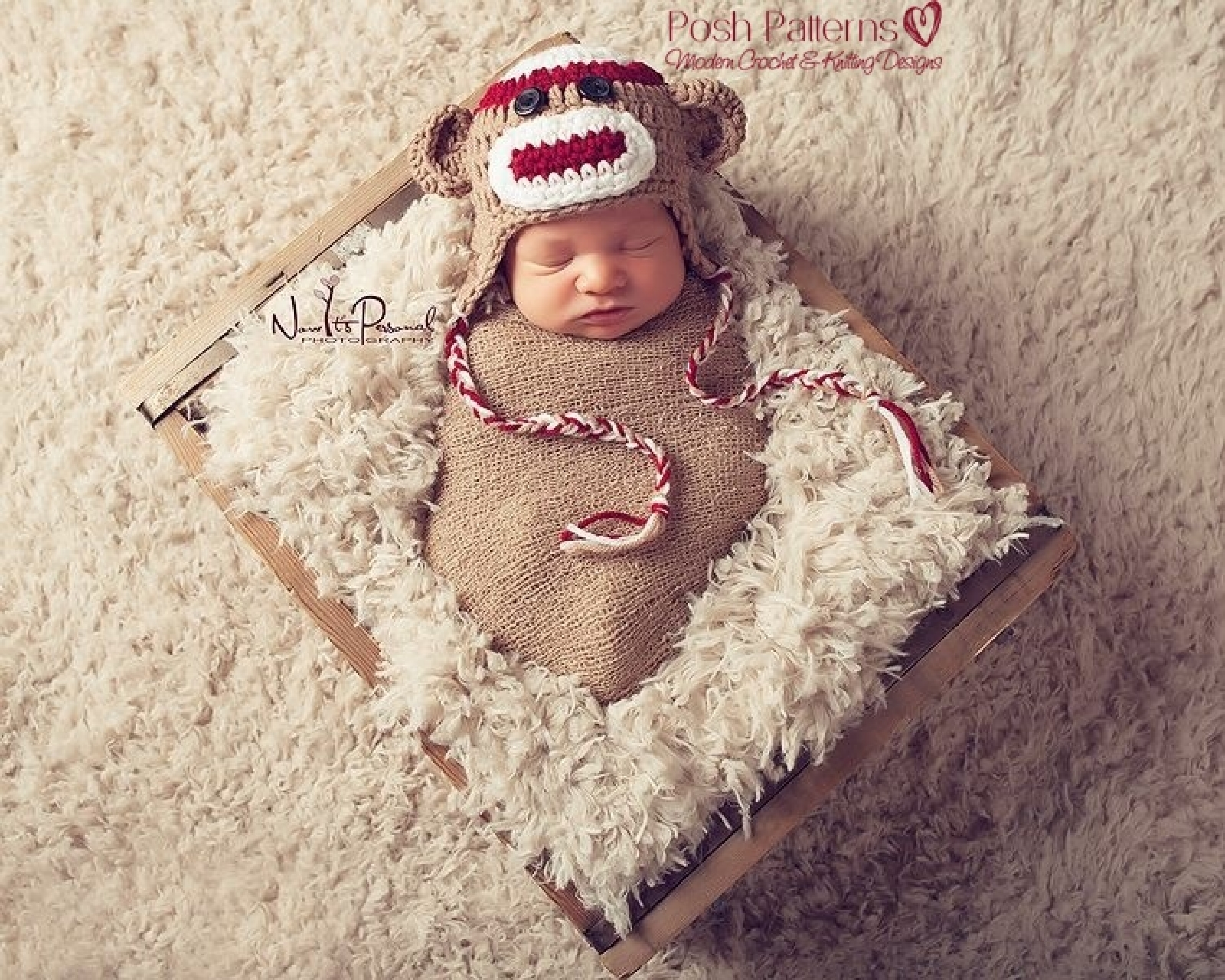 Crochet pattern sock monkey baby hat sock monkey hat crochet pattern baby earflap hat bankloansurffo Images