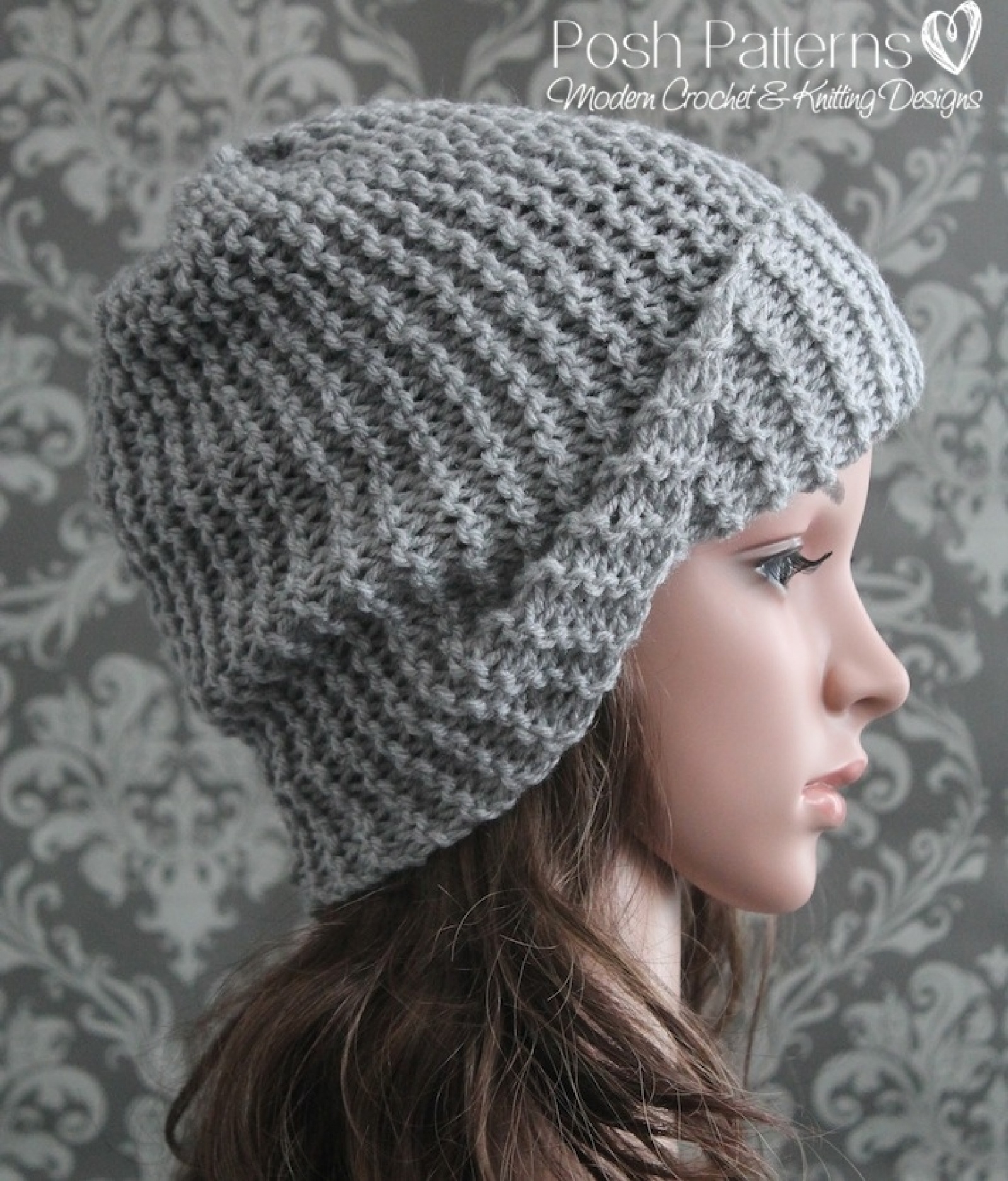 Easy slouchy hat knitting pattern bankloansurffo Images