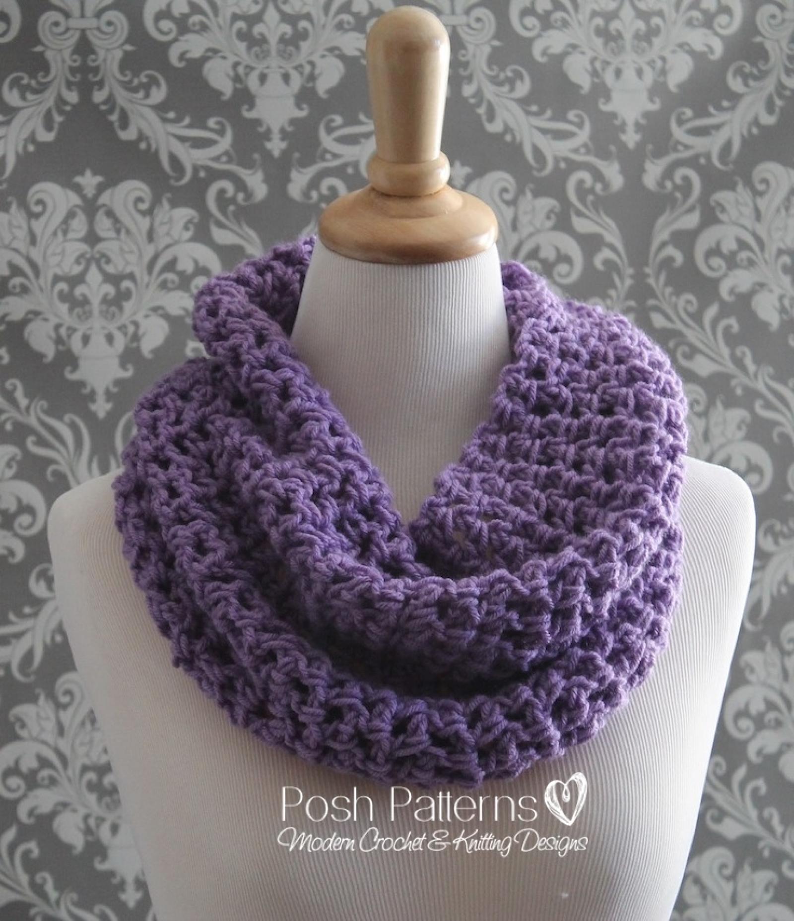 Crochet cowl pattern easy infinity scarf pattern bankloansurffo Images