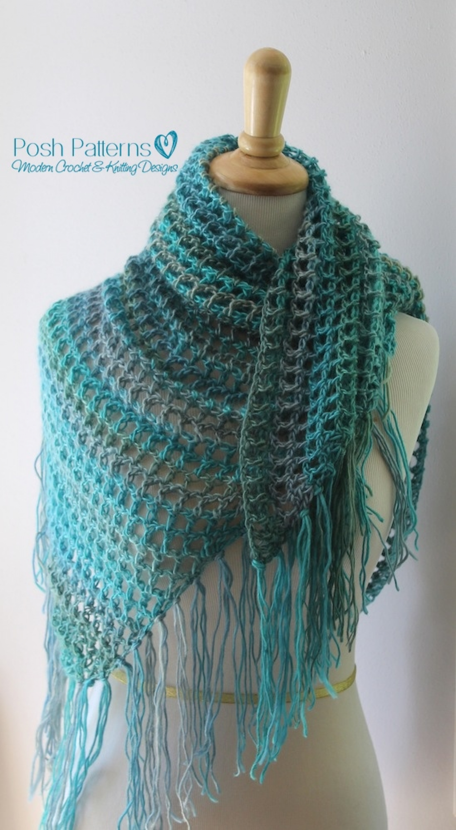 Free Triangle Scarf Knitting Pattern : Crochet Triangle Scarf Pattern Crochet Shawl Pattern