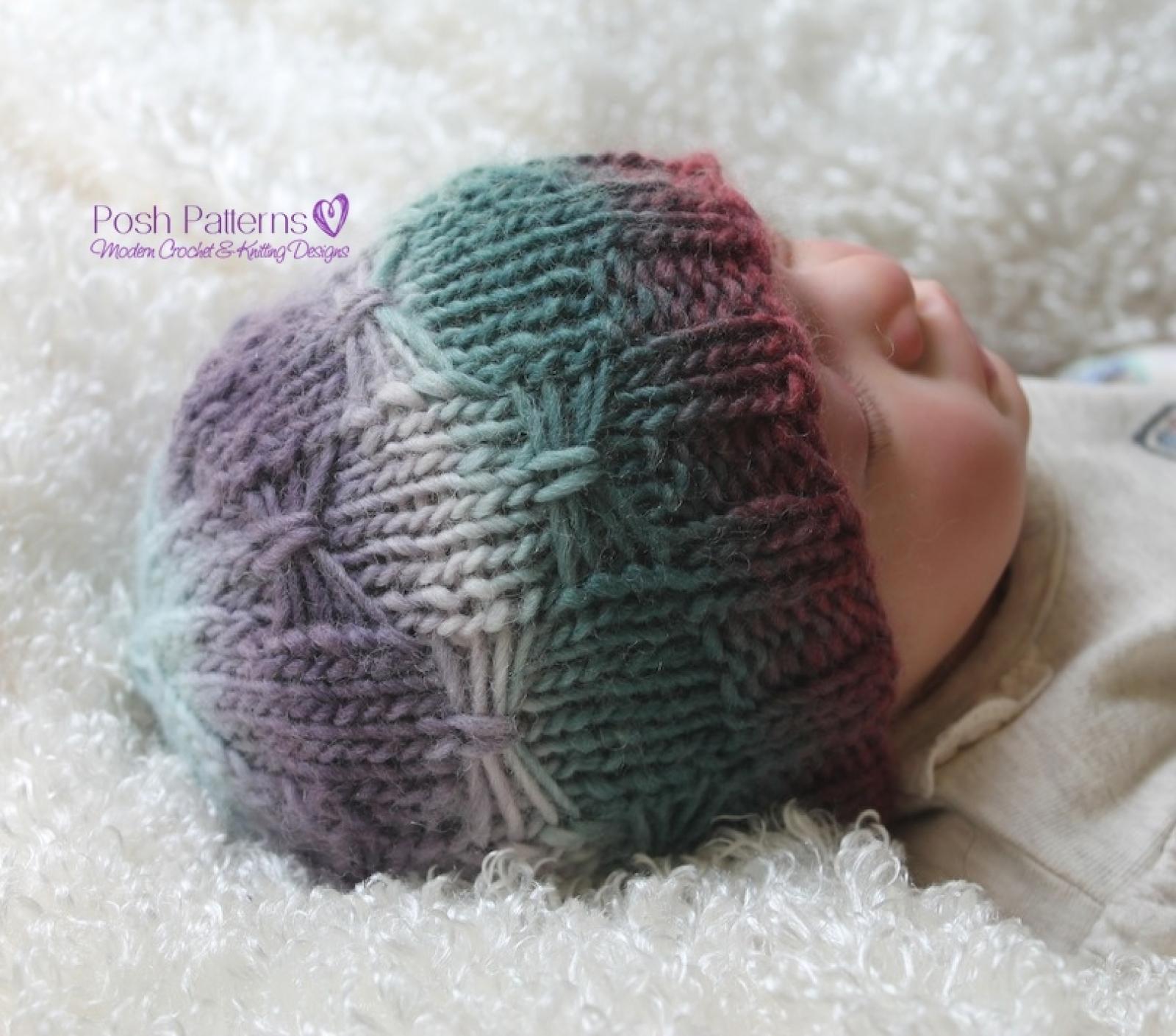 Knitting pattern butterfly beanie knit hat pattern bankloansurffo Gallery