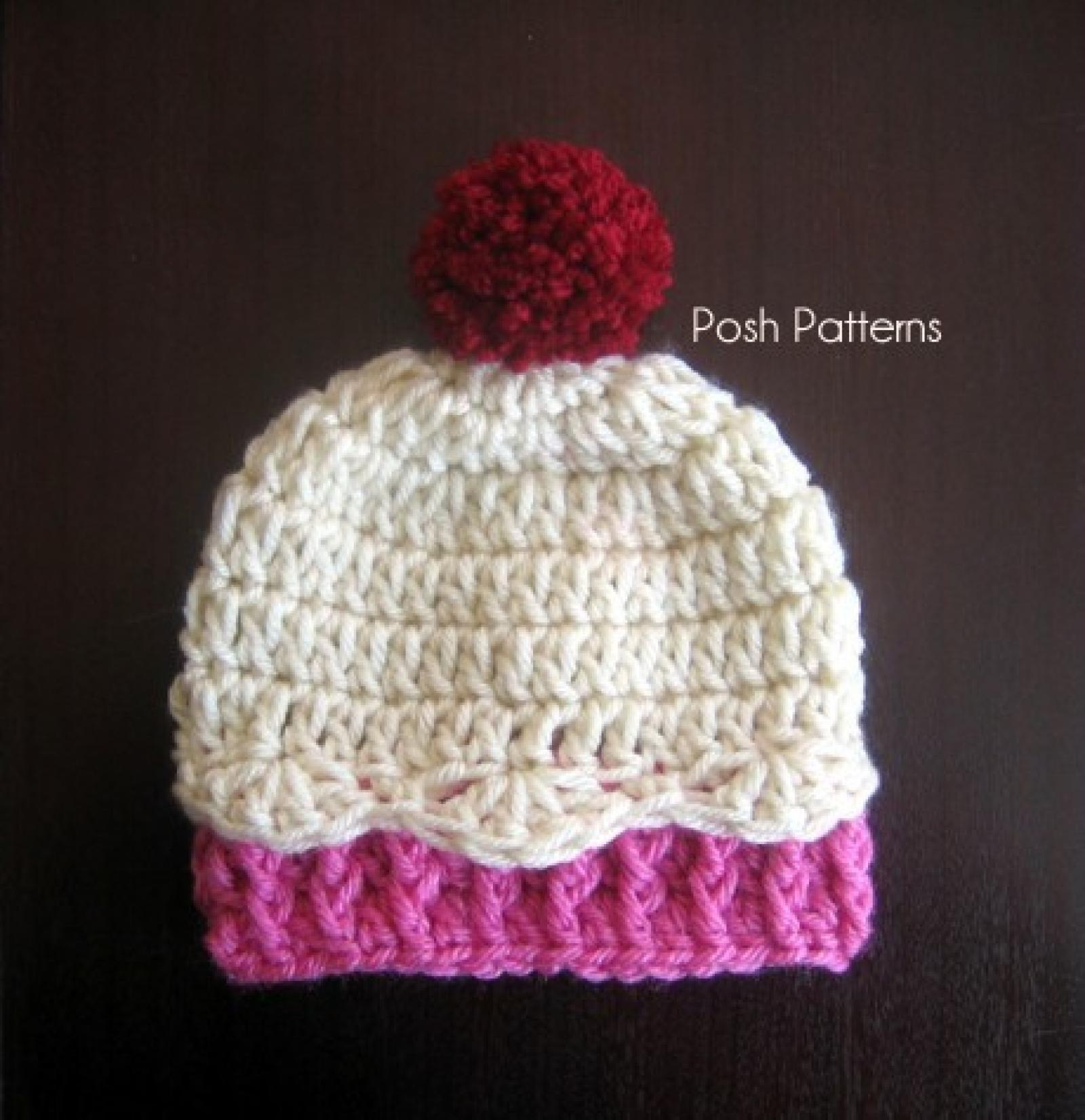 Crochet cupcake hat pattern newborn to 12 months sizes crochet cupcake hat pattern 3 sizes bankloansurffo Images