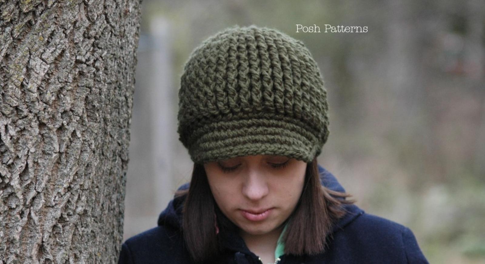 Newsboy hat crochet pattern visor hat pattern bankloansurffo Gallery