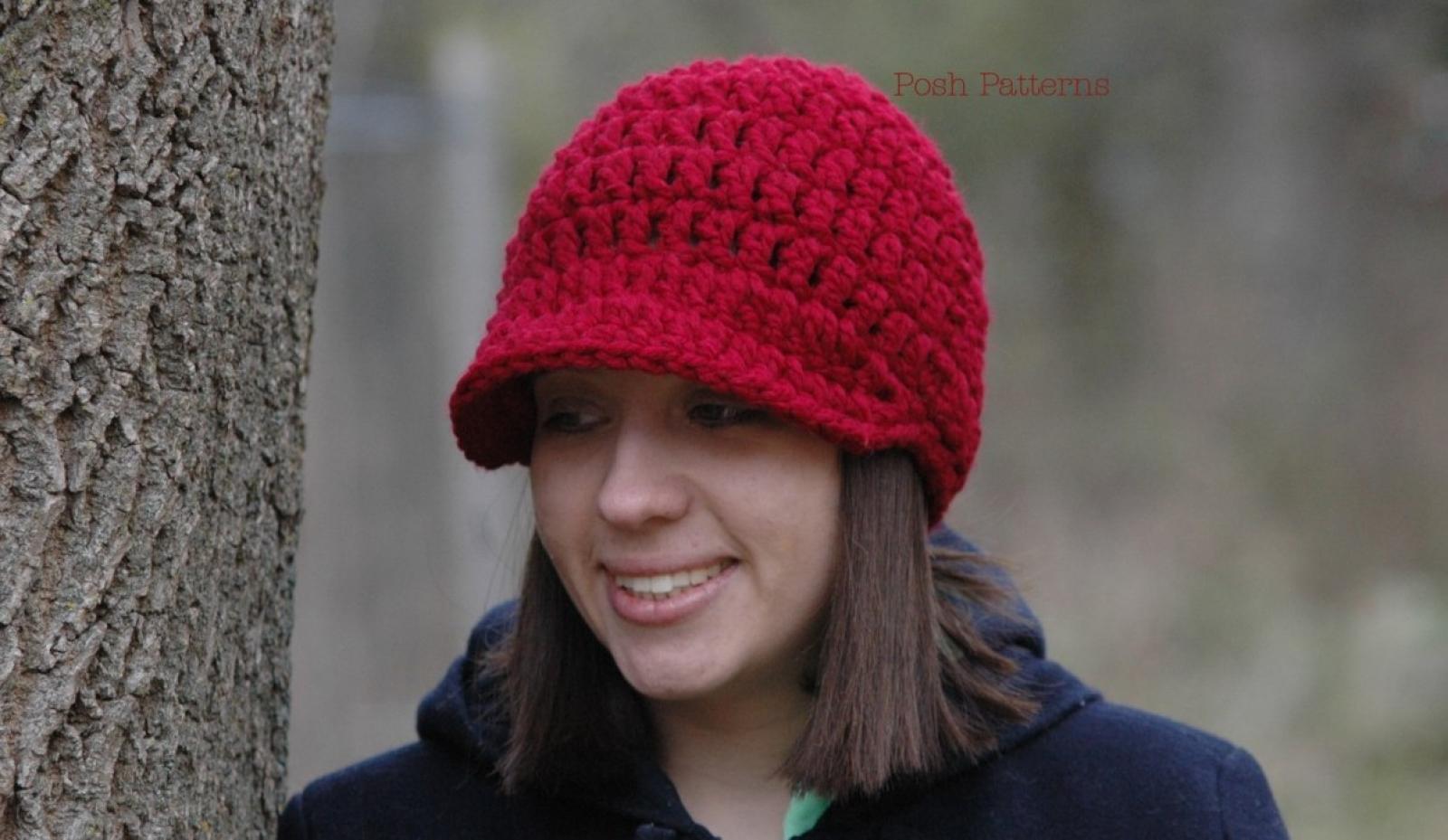 Crochet newsboy hat pattern visor hat pattern bankloansurffo Gallery