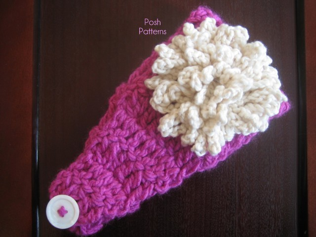 free crochet pattern easy headband and flower