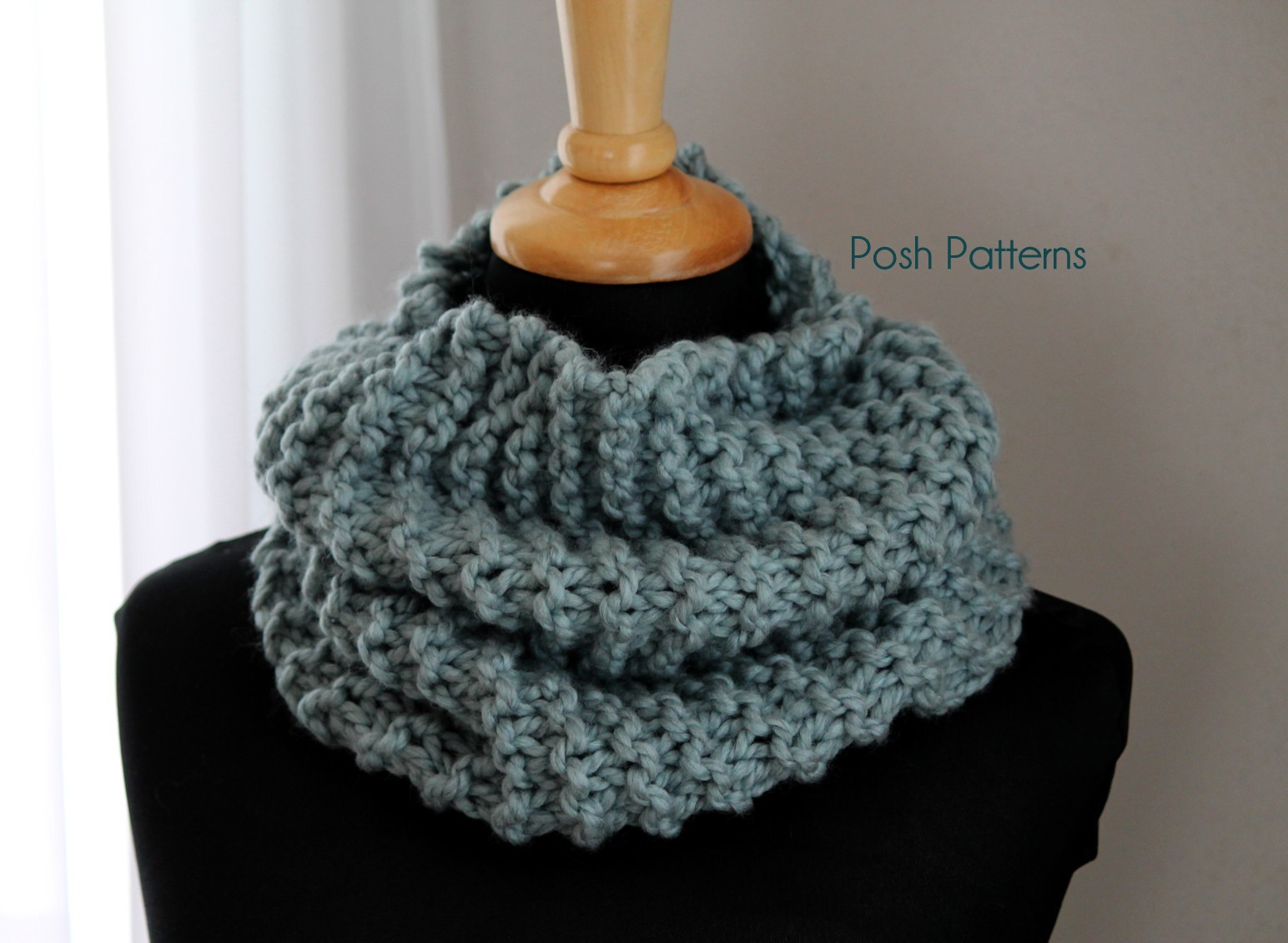 free knitting pattern easy cowl