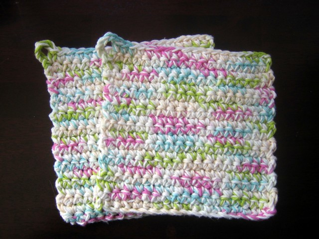 free crochet pattern easy pot holders oven mitts