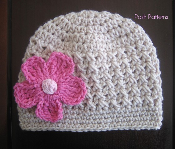 Crochet Hat Pattern Crochet Beanie And Flower