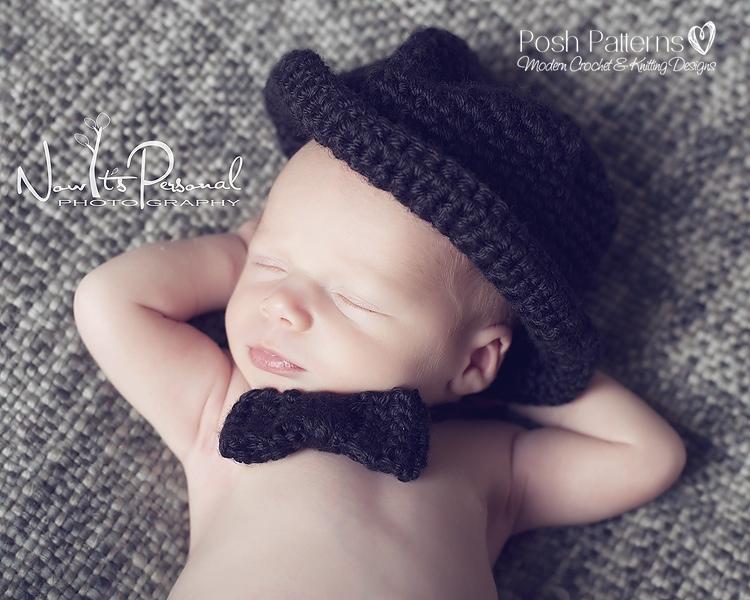 Free Crochet Pattern Baby Bow Tie Tuxedo Tie