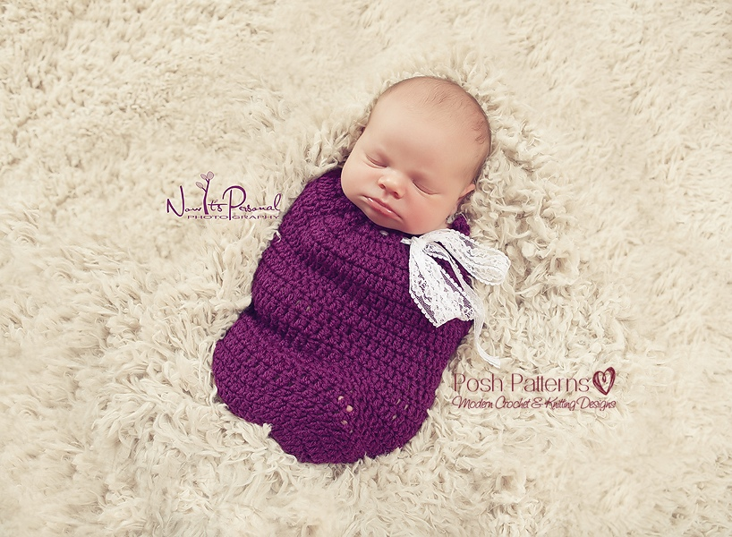 Crochet Cocoon Pattern Newborn Swaddle Sack