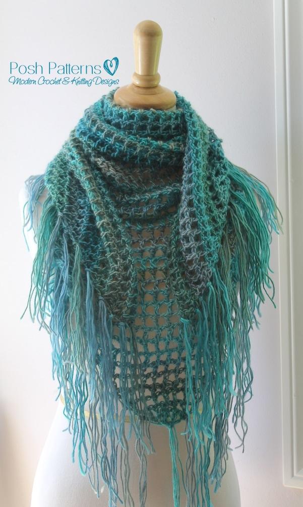 Crochet Triangle Scarf Pattern Crochet Shawl Pattern