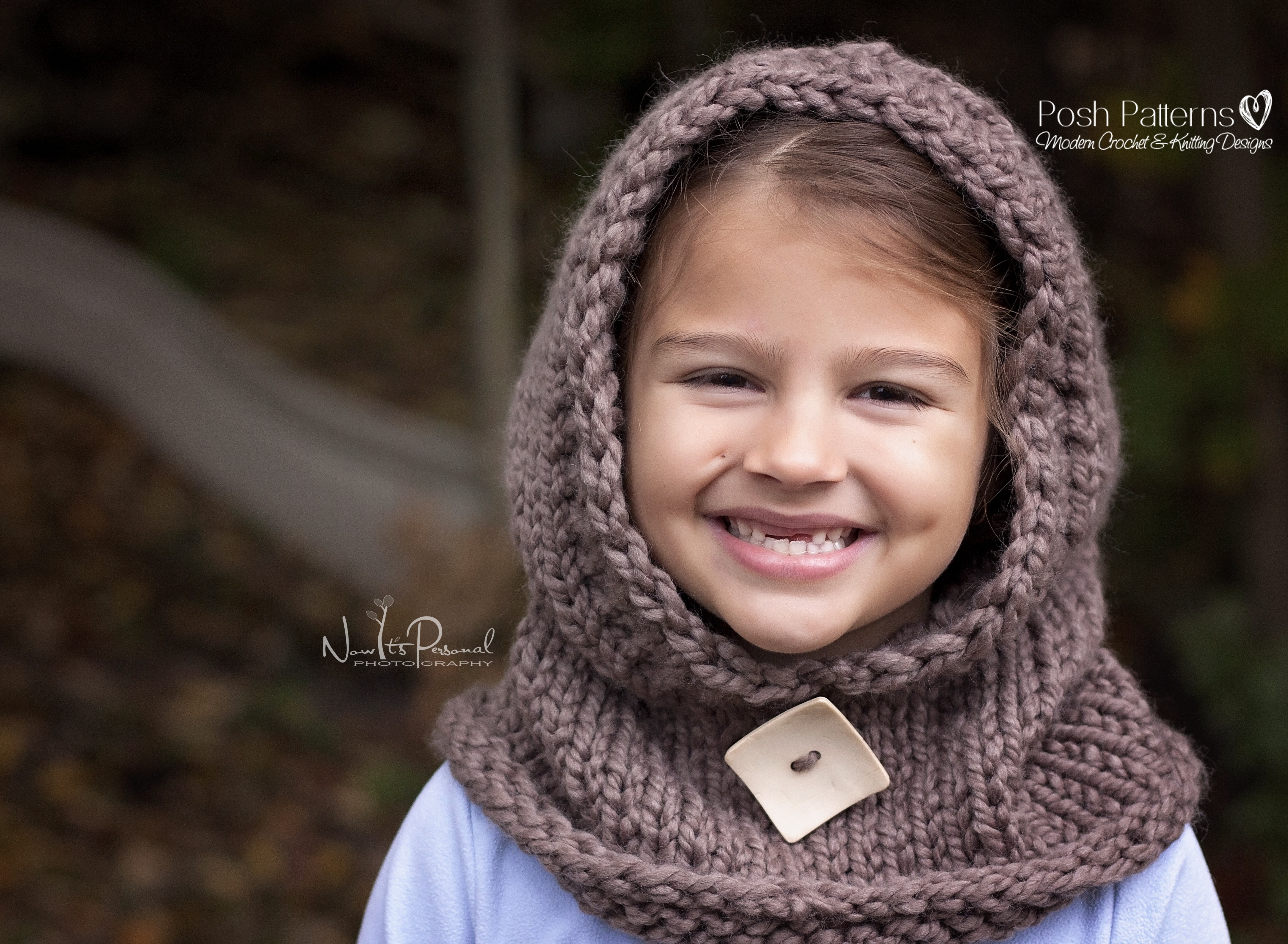 Hooded Cowl Knitting Pattern - Hooded Scarf