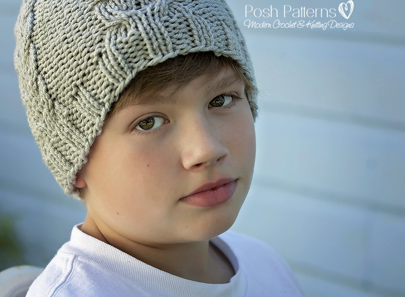 Knitting Pattern Cable Hat Knit Cable Beanie
