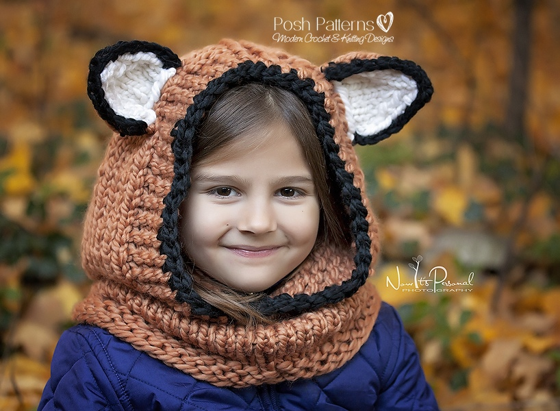 Fox Hooded Cowl Knitting Pattern Mesmerizing Hooded Cowl Pattern