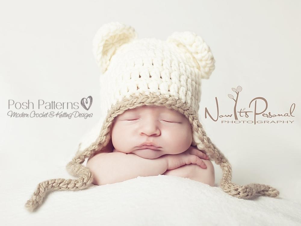 Teddy Bear Hat Crochet Pattern Baby Bear Hat