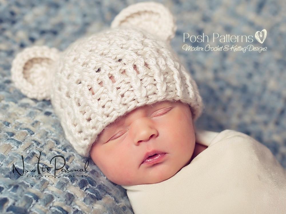 Crochet Pattern Bear Hat Teddy Bear Beanie Pattern