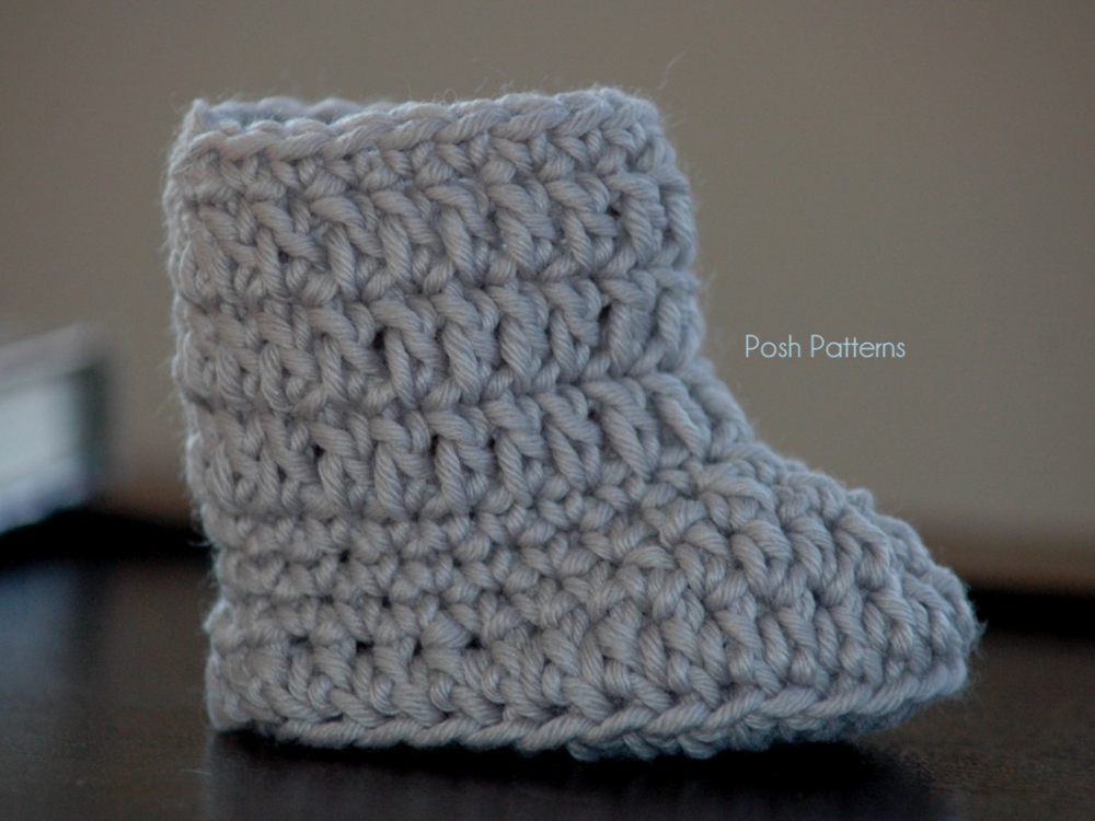 Crochet Pattern Easy Baby Boots Slippers 2 Sizes