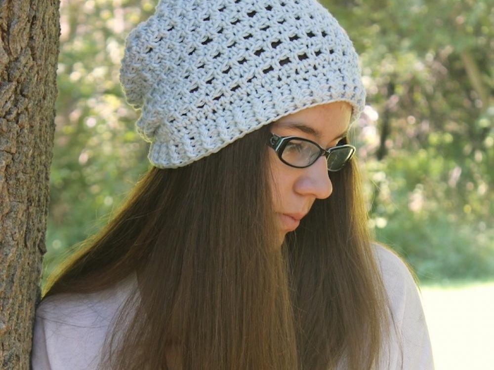Crochet Slouchy Hat Pattern Slouchy Hat Pattern