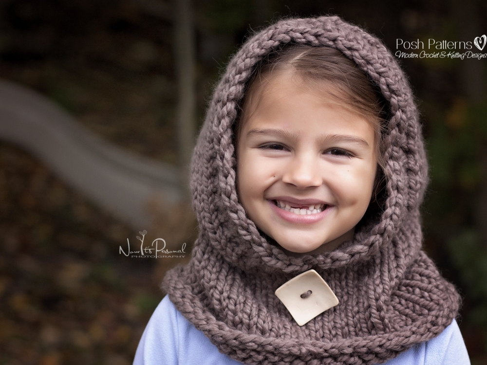 Hooded Cowl Knitting Pattern Hooded Scarf