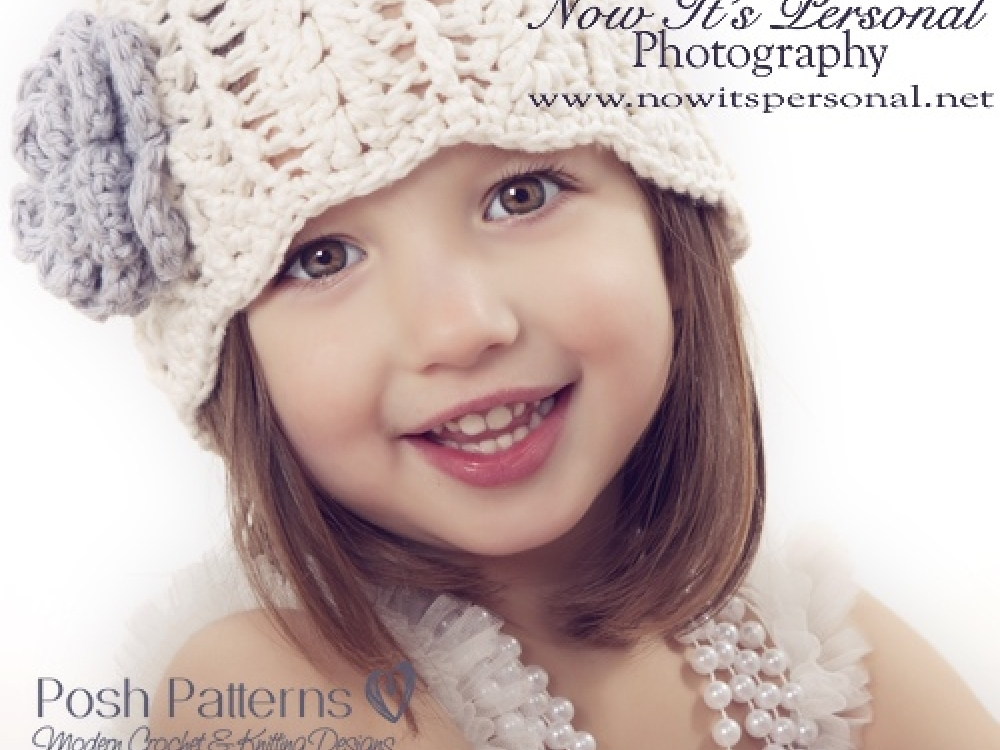 Girls Hat Crochet Pattern Crochet Flower Pattern