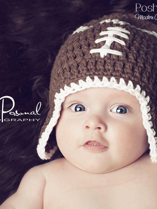 easy football hat crochet pattern
