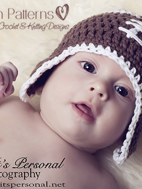 crochet football beanie hat pattern