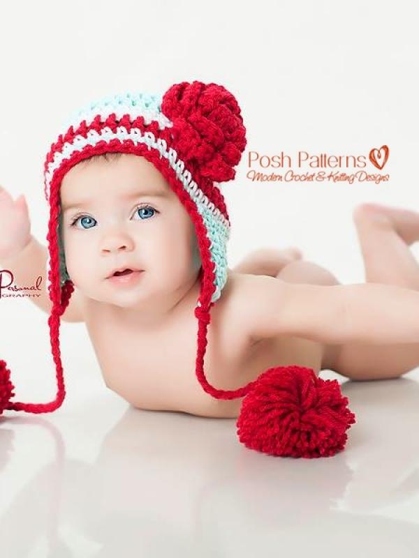 baby earflap hat crochet pattern
