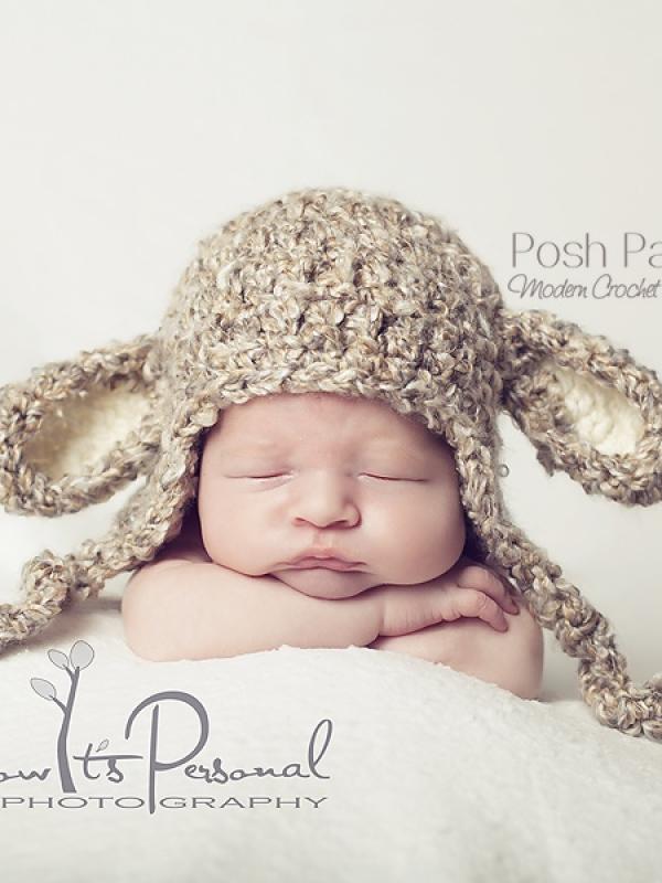baby lamb crochet hat pattern