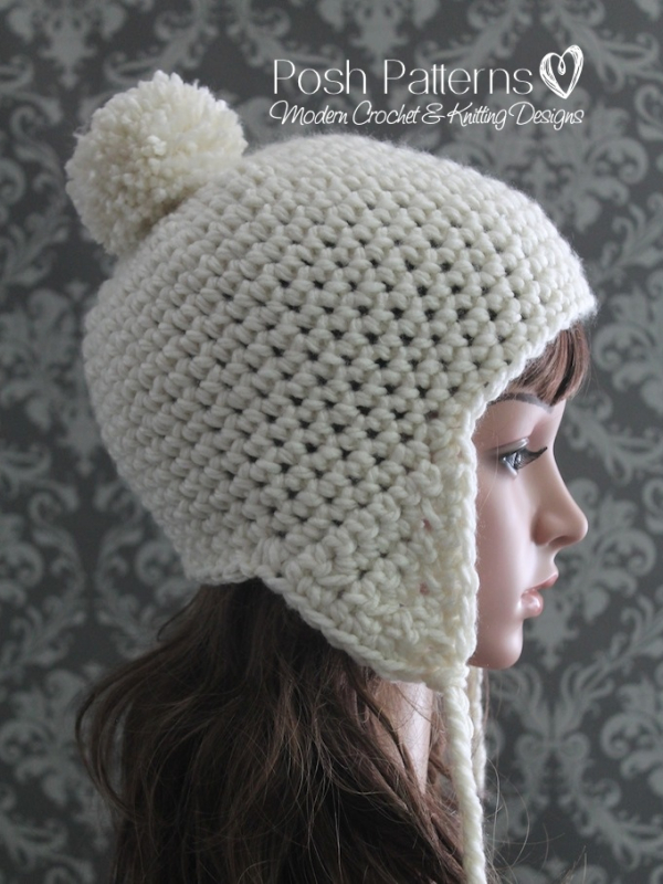 easy earflap hat crochet pattern