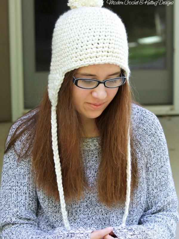 Crochet earflap hat pattern crochet hat pattern dt1010fo