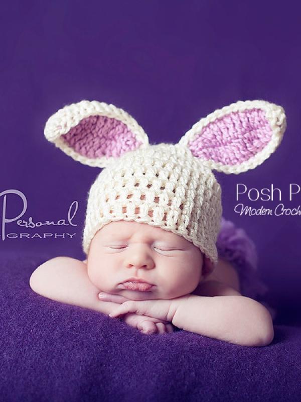 crochet easter bunny hat pattern
