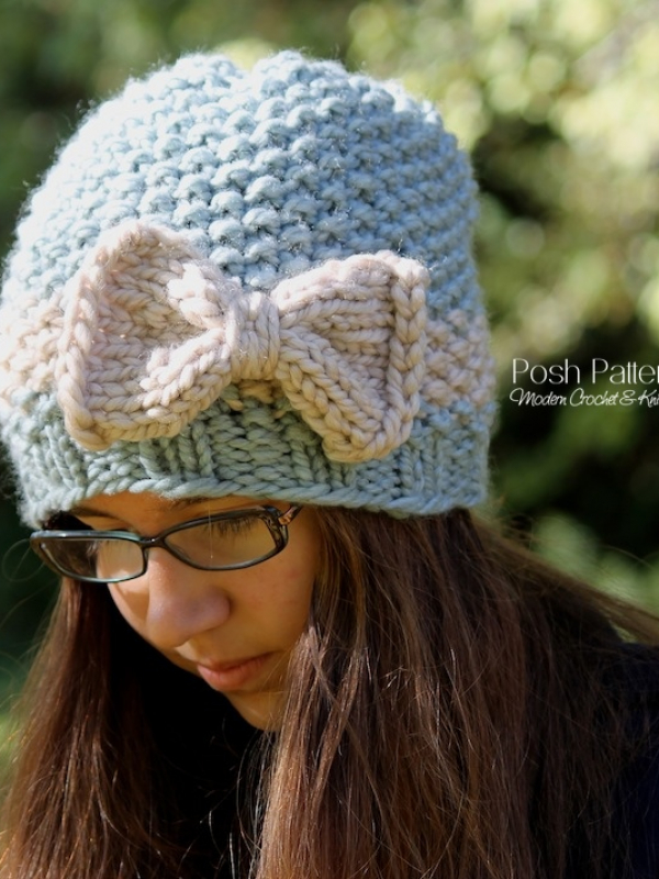 knit beanie hat pattern