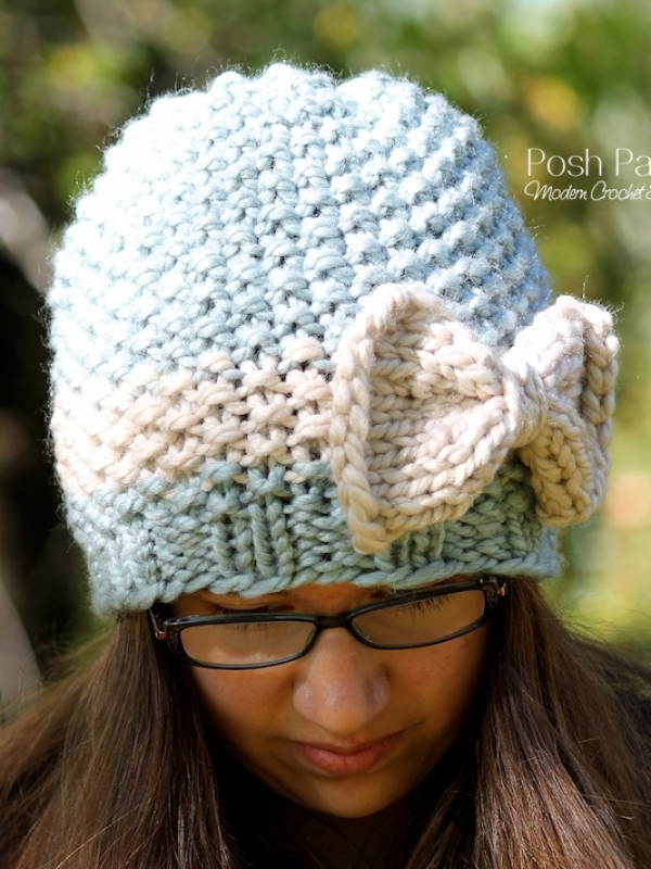 knitting pattern seed stitch beanie hat