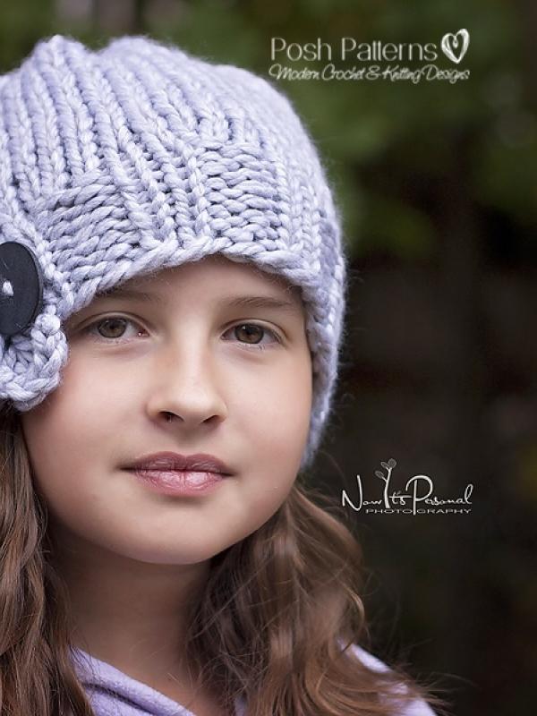 Ruffle Hat Knitting Pattern Knit Slouchy Hat Pattern