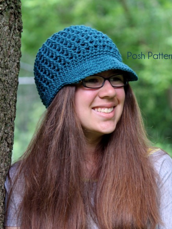 easy crochet newsboy hat pattern