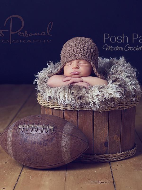crochet pattern baby earflap hat and flower
